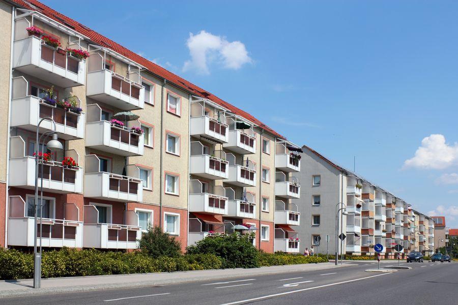 Plattenbau in Schwedt